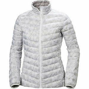 Womens Jasico White/Gray Down Puffer Jacket
